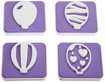 Wilton 4-Piece Balloon Stamp Set