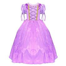 LOEL Deluxe Costume Dress Girls Princess Birthday Party Cosplay Outfit