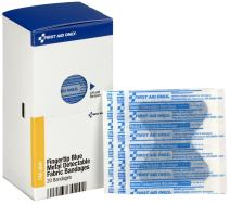 First Aid Only FAE-3041 SmartCompliance Refill Blue Metal Detectable Fingertip Bandages, 40 Count