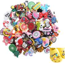 100pcs Different Shoes Charms Assortment Party Favors Toys for Clog Shoes & Wristband Bracelet Party Gifts Kids Child, Christmas Celebration,Thanksgiving New Year