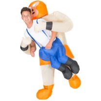 Bodysocks Adult Inflatable Wrestler Fancy Dress Costume