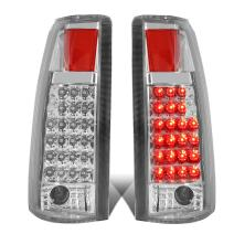 Replacement for Chevy GMC C/K Series LED Tail Brake Reverse Light Kit (Chrome Clear)