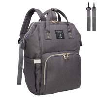 Diaper bag backpack,Nanrui Industry Multi-Function baby backpack diaper backpack (Dark Grey)