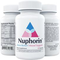 NUPHORIN   Anxiety Supplements and Stress Relief   All Natural Herbal Blends, Ashwagandha Root Powder Extract, Vitamins B, 5HTP, Magnesium, GABA, DMAE, & Chamomile   Made in USA   60 Vegan Capsules