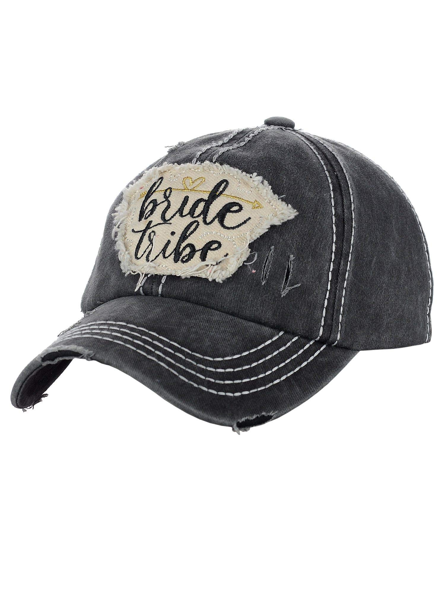 C.C Women's Distressed Vintage Embroidered Patched Bridal Shower Baseball Cap