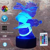 Fanrui Japan Anime Legends - Naruto Uzumaki Figurines Action Lamp - Professional 7 Colors Change LED Night Light - Boys Naruto Fans Bedroom Table Decor - Your Child Kids Friend Xmas Thanksgiving Gifts