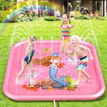 Peradix Sprinkler Splash Pad for Kids,Splash Play Mat Outdoor Pool Party Water Play Toys, Outside Water Play Game for Kids Toddlers Pets Playing Water,Backyard Fountain Wading Pool with Summer Theme