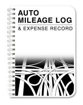 """BookFactory Mileage Log Book/Auto Mileage Expense Record Notebook for Taxes - 126 Pages - 5"""" X 7"""" Wire-O (LOG-126-57CW-A(Mileage))"""