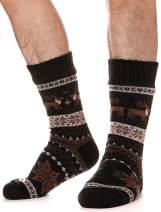 Mens Fuzzy Slipper Socks Thick Warm Heavy Fleece lined Christmas Stockings Fluffy Winter Socks