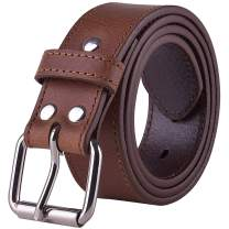 POYOLEE Concealed Carry CCW Leather Gun Belt   Top Grain Leather Belt for Gun Carry   Mens Heavy Duty EDC Belt 1 1/2-Inch