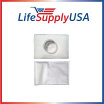 LifeSupplyUSA 2 Pack Filter Compatible with Electrolux Aerus Canister Vacuum HEPA Micro electrostatic Filter LE 2100, Ap100, Diplomat, Ambassador, Epic 6500, Full Kit, 200 350 622 10, 079
