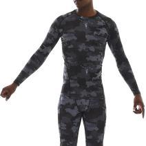 RUXN Mens Compression T Shirts - Workout Top Athletics Shirt for Men - Active Sports Drifit Long Sleeve Base Layer