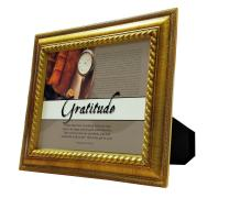 VERSERIES - Thanksgiving Picture Frame - Christian Gift and Art - Canvas Photo Frame - Bible Verse Gift - Choose Your Design (Rustic Gold Frame, Set of 1)
