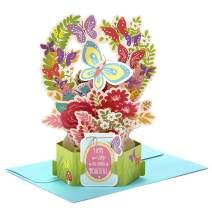 Hallmark Paper Wonder Birthday Pop Up Card for Women (Flowers and Butterflies) (799RZW1031)