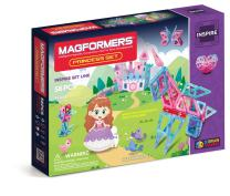 Magformers Inspire Princess 56 Pieces, Pink Purple Colors, Educational Magnetic Geometric Shapes Tiles Building STEM Toy Set Ages 3+