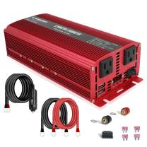 LVYUAN 1500W/3000W Power Inverter Dual AC Outlets and Dual USB Charging Ports DC 24V to 110V AC Car 24V Inverter Converter with Digital Display 4 External 40A Fuses for Blenders, vacuums, Power Tools