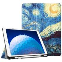 """Fintie Case for iPad Air (3rd Gen) 10.5"""" 2019 / iPad Pro 10.5"""" 2017 - [SlimShell] Ultra Lightweight Standing Protective Cover with Built-in Pencil Holder, Auto Wake/Sleep (Starry Night)"""