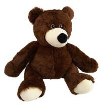 Bstaofy Teddy Bear Stuffed Animal Microwavable Plush Toy Cold Cozy Hot Therapy Pal Bedtime Dark Brown Gift for Toddlers on Christmas Birthday Valentine Festival Occasions, 9''