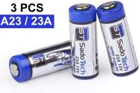 A23 Battery - 12V Long Lasting Alkaline Battery (1 Pack, 3 Batteries) - for Wireless Doorbell, Household Electronics, Remote, Garage Doors Opener and Accessories