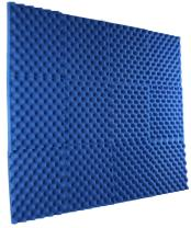 "New Level 12 Pack - All Ice Blue Acoustic Panels Studio Foam Egg Crate 1"" X 12"" X 12"""