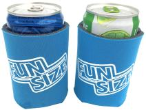KCC Industries 8 oz. Mini Beer & Soda Slim Can Sleeves - Set of 2 Fun Size Coolies (Neon Blue)