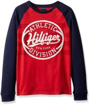 Tommy Hilfiger Boys' Adaptive Long Sleeve T Shirt with Touch Fastener Closure