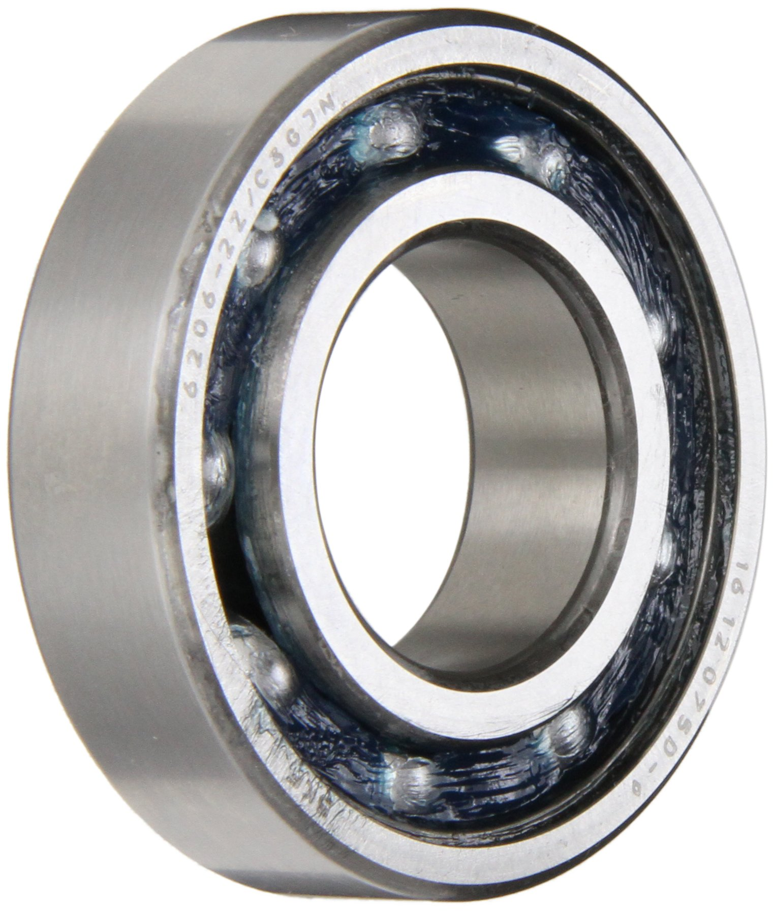 SKF 6202-ZTN9 Radial Bearing, Single Row, Deep Groove Design, ABEC 1 Precision, Single Shield, Non-Contact, Normal Clearance, Plastic Cage, 15mm Bore, 35mm OD, 11mm Width