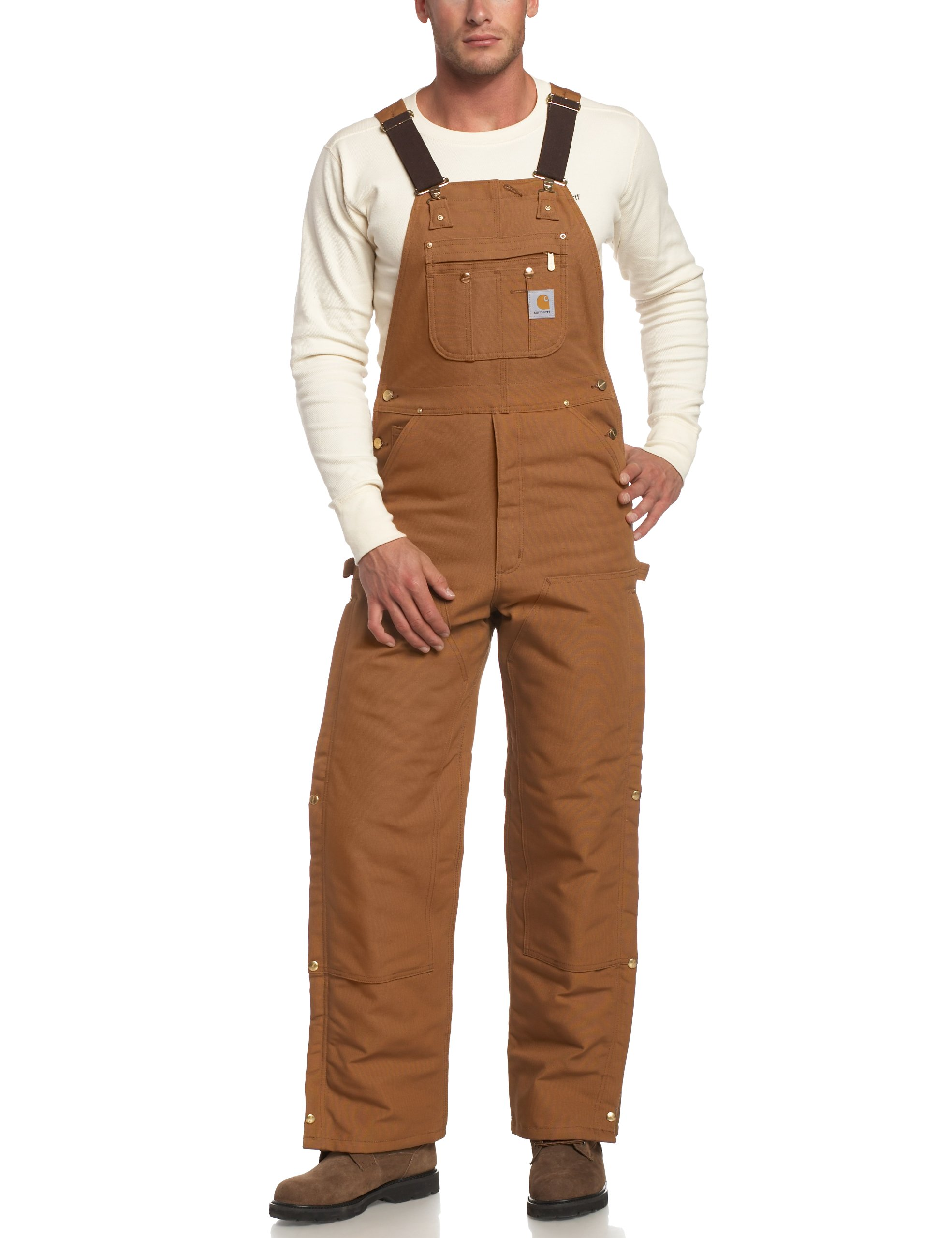 Carhartt Men's Quilt Lined Zip To Thigh Bib Overalls R41