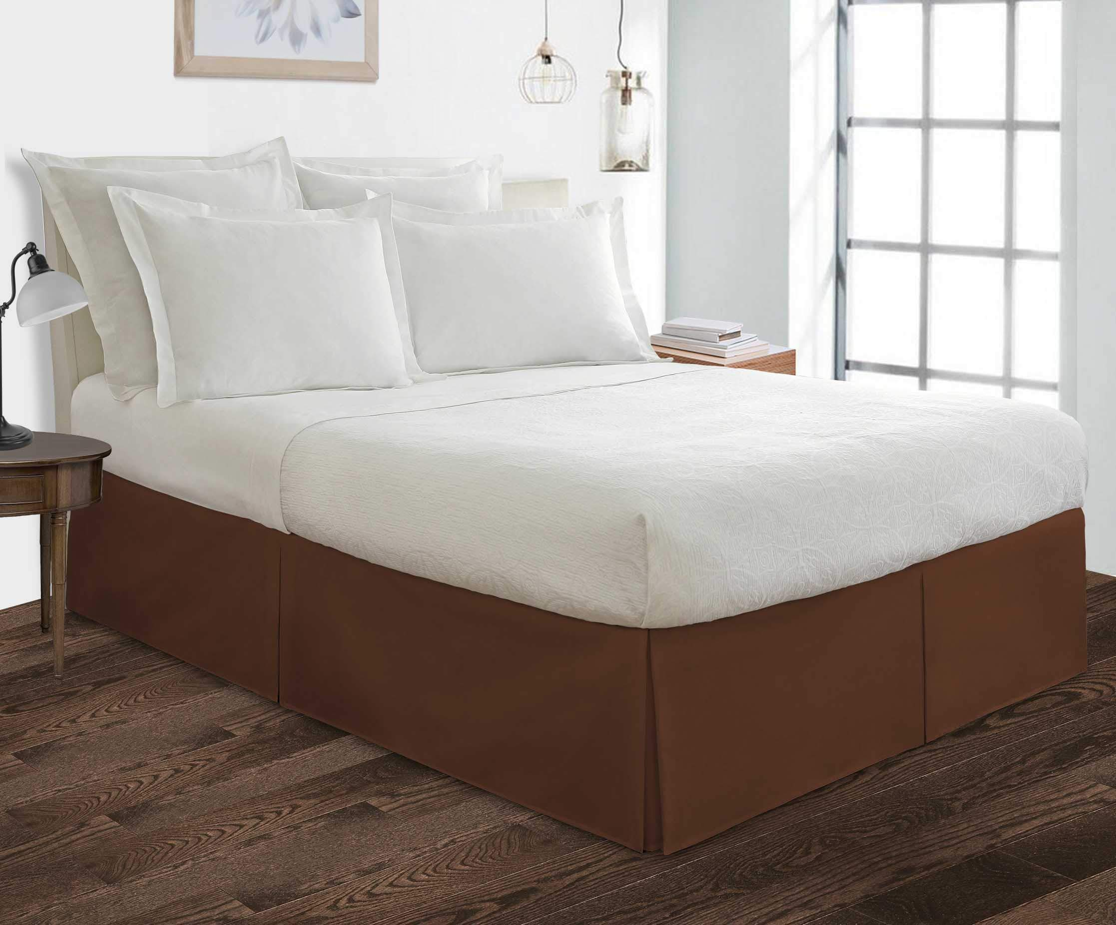 "550 TC Egyptian Cotton Bedding 1X Bed Skirt 21"" Inch Drop Queen (60X80) Chocolate Solid"