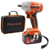 Hausse Cordless Power Impact Wrench 20V 1/2 Inch with Rechargeable Lithium Battery, 6 Wrench Sockets Heavy Duty Wrench Kit