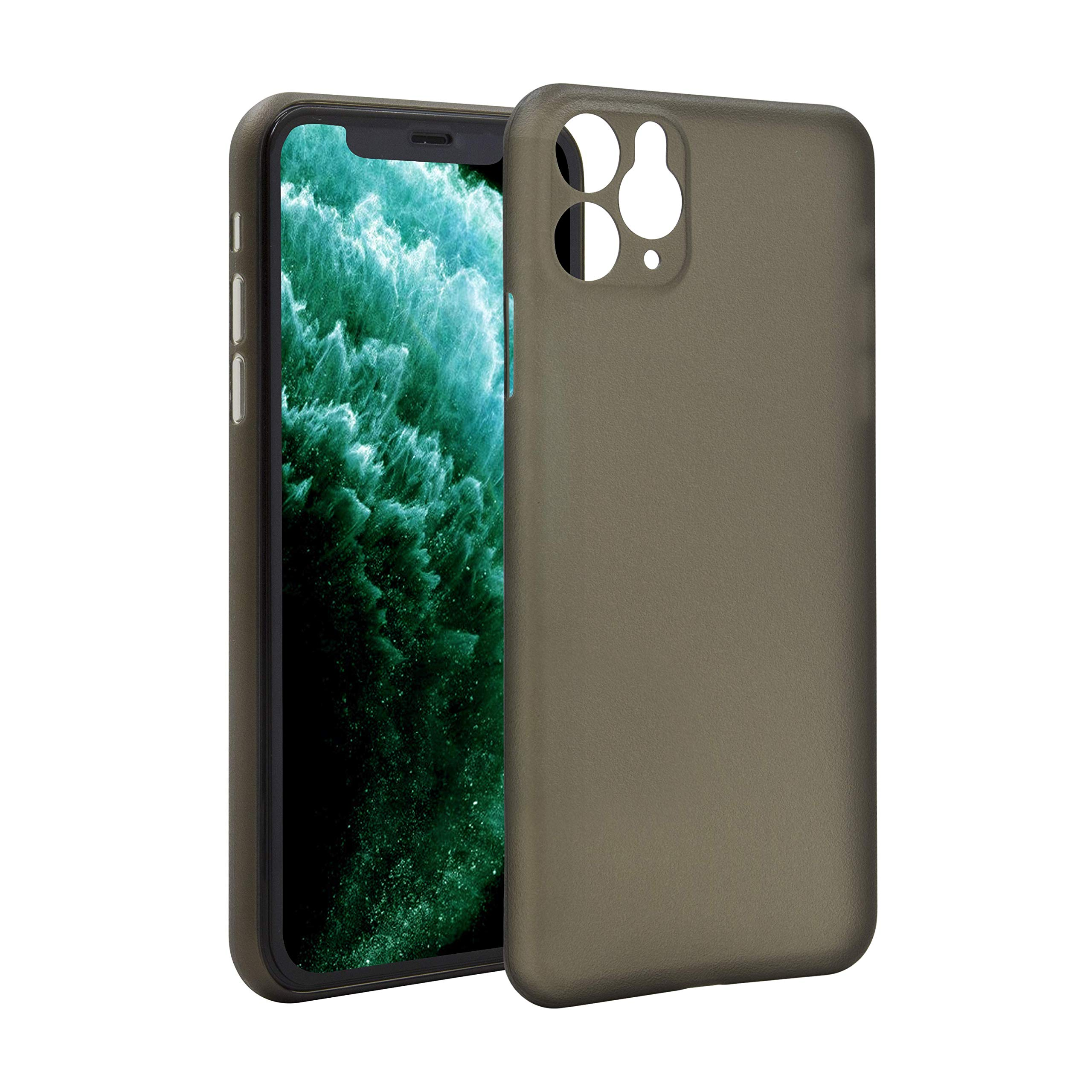 Twinscase Slim Fit Light iPhone 11 Pro Max Minimalist Case, Ultra-Thin Full Protective Ultra-Light Cover with Matte Finish Phone Case for iPhone 11 Pro Max 6.5 inch (2019), Frosted Black