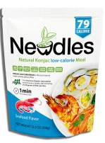 Newdles (New Generation) Konjac/Shirataki Low-Calorie Meal(Seafood Flavor)Easy to prepare, No boiling, Low Carb, Low Calories, High water-soluble dietary fiber, Gluten-Free, Good taste(1)