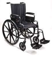 "Everest & Jennings Traveler L4 Lightweight Wheelchair, Flip-Back Desk Arms & Swingaway Footrests, 20x18"" Seat, Silvervein Color"