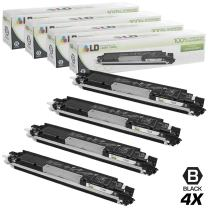 LD Remanufactured Toner Cartridge Replacement for HP 130A CF350A (Black, 4-Pack)