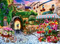 Adult Paint by Numbers Kits for Adults Painting by Number On Canvas Birthday Wedding Christmas Gift Gift for Your Family,20x16Inch Flower Market-Canvas