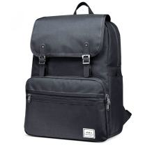 """Laptop Backpack, Lightweight College School Backpack,Travel Every Day Backpack,ULAK Slim Anti Theft Computer Book Bags Water-resistant Eco-friendly Bag Fits Under 15.6"""" Laptop & Note Book- Black"""