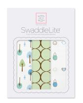 SwaddleDesigns SwaddleLite, Set of 3 Cotton Marquisette Swaddle Blankets, Premium Cotton Muslin, Cute and Calm Lite, Kiwi