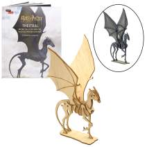 """Harry Potter Thestral Book and 3D Wood Model Figure Kit - Build, Paint and Collect Your Own Wooden Toy Model - Great for Kids and Adults, 8+ - 7 1/2"""" h"""