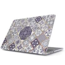 BURGA Hard Case Cover Compatible with MacBook Air 13 inch Case Release 2018-2019, Model: A1932 with Retina Display and Touch ID White and Gold Marrakesh Mosaic