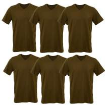 V Neck T Shirts 6 Packs Lightweight Cotton Tee Unisex for Men Women 10 Colors Short Sleeve Cotton