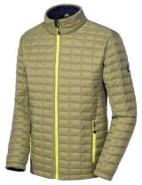 Little Donkey Andy Men's Insulated Hiking Jacket, Quilted Puffer Jacket with Synthetic Insulation