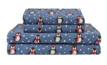 Elite Home Products Deep-Pocketed Winter Nights 100% Cotton Flannel Sheet Set