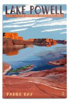 Lake Powell - Padre Bay (12x18 Aluminum Wall Sign, Wall Decor Ready to Hang)