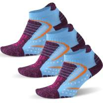 Facool Athletic Running Socks for Women with Seamless Toe,Moisture Wicking,Cushion Padding 1/3 Pairs