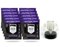 Kuju Coffee Premium Single-Serve Pour Over Coffee   Ethically Sourced, Specialty Grade, Eco-Friendly   Bold Awakening, Dark Roast, 10-pack