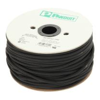 Panduit SE50PSC-CR0 Fray Resistant Braided Expandable Sleeving, Polyethylene Terephthalate, 0.5-Inch by 100-Foot, Black