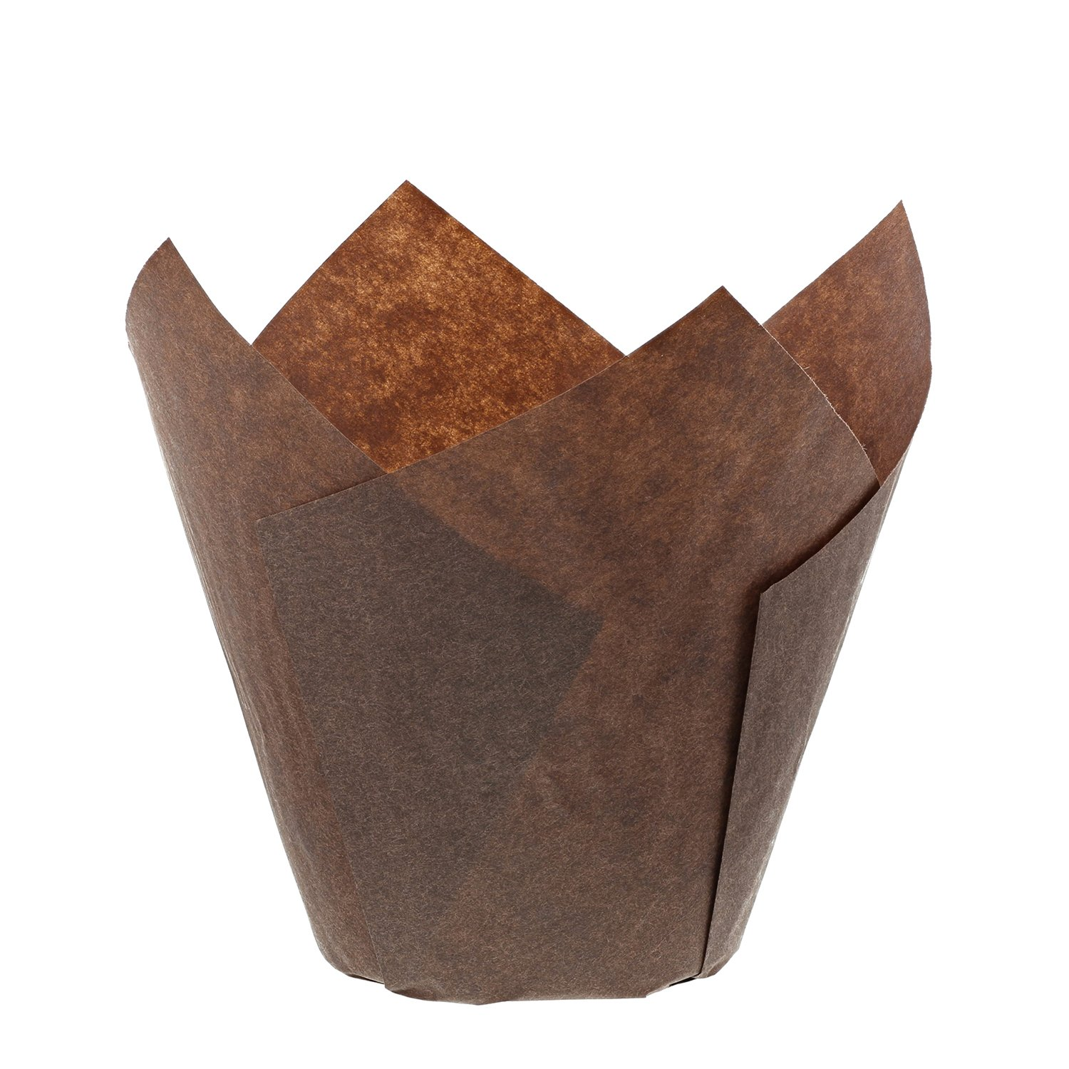 Royal Brown Tulip Style Baking Cups, Small, Case of 2000