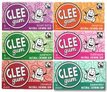 Glee Gum All Natural Variety Gum Pack, Non GMO Project Verified, Eco Friendly, 16 Piece Box, Variety Pack of 12