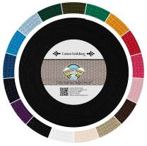 Country Brook Design - Black Heavy Cotton Webbing with 17 Vibrant Color Options (1 Inch, 50 Yards)