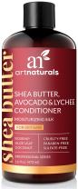 ArtNaturals Shea-Butter Avocado and Lychee Conditioner – (16 Fl Oz / 473ml) – Moisturizing Silk – Nourishing For Dry and Damaged Hair – Sulfate-Free and Cruelty-Free – Coconut, Aloe Vera and Rosehip